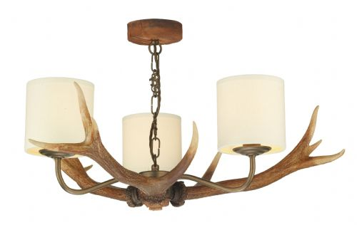 Antler 3-light Made in the Cotswolds Ceiling Light ANT0329 (829102)